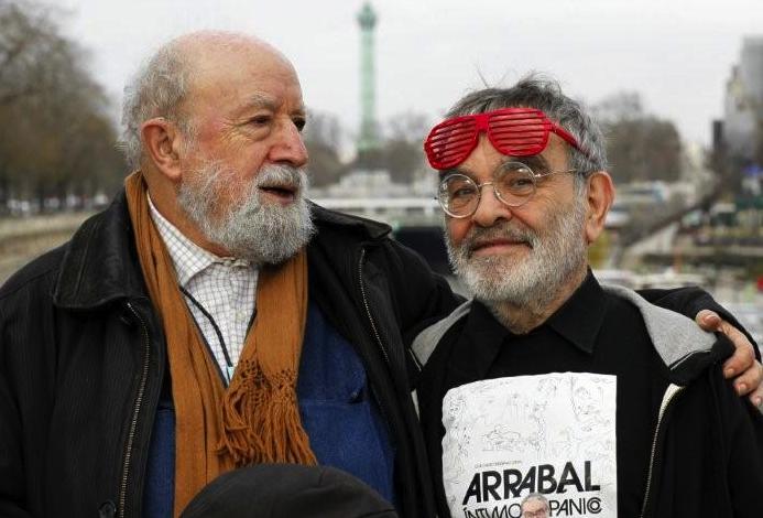 Michel Butor et Fernando Arrabal (photo de Serge Assier)