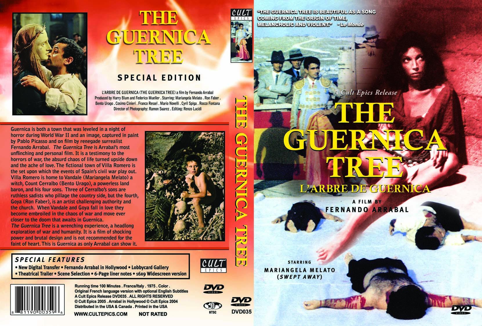 """Jaquette originale du DVD """"L'arbre de Guernica"""""""