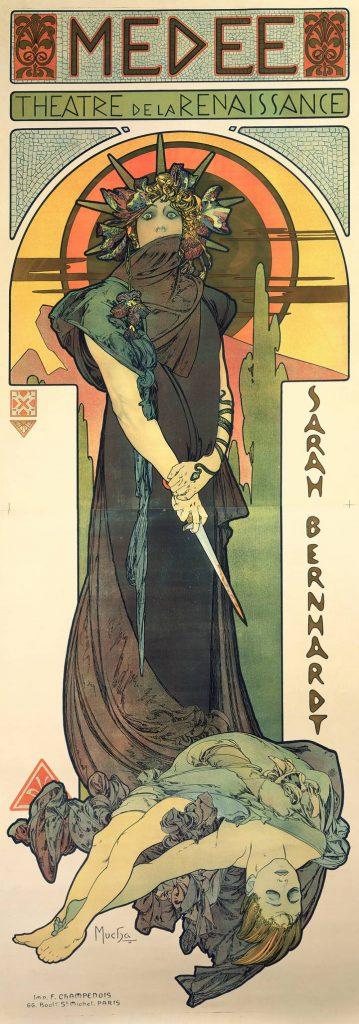 Alphons Maria Mucha, affiche pour Médée jouée par Sarah Bernardt