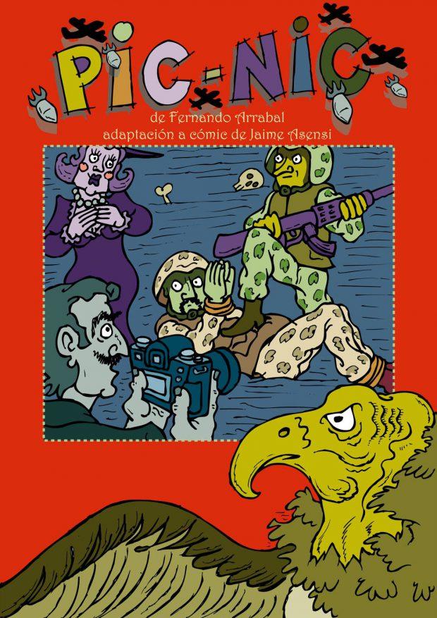 Couverture de la bande dessinée Pic-Nic, adpatée par Jaime Asensi, d'après la pièce de Fernando Arrabal.