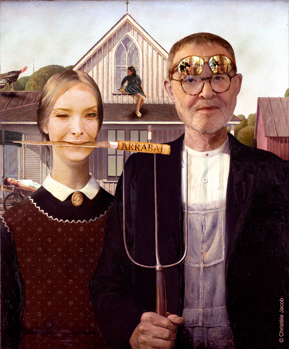 American gothic, Grant Wood 74x62 1930