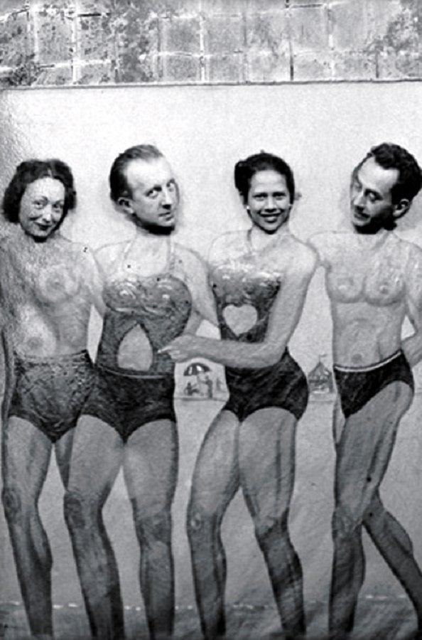 Nush Éluard, Paul Éluard, Adrienne Fidelin & Man Ray