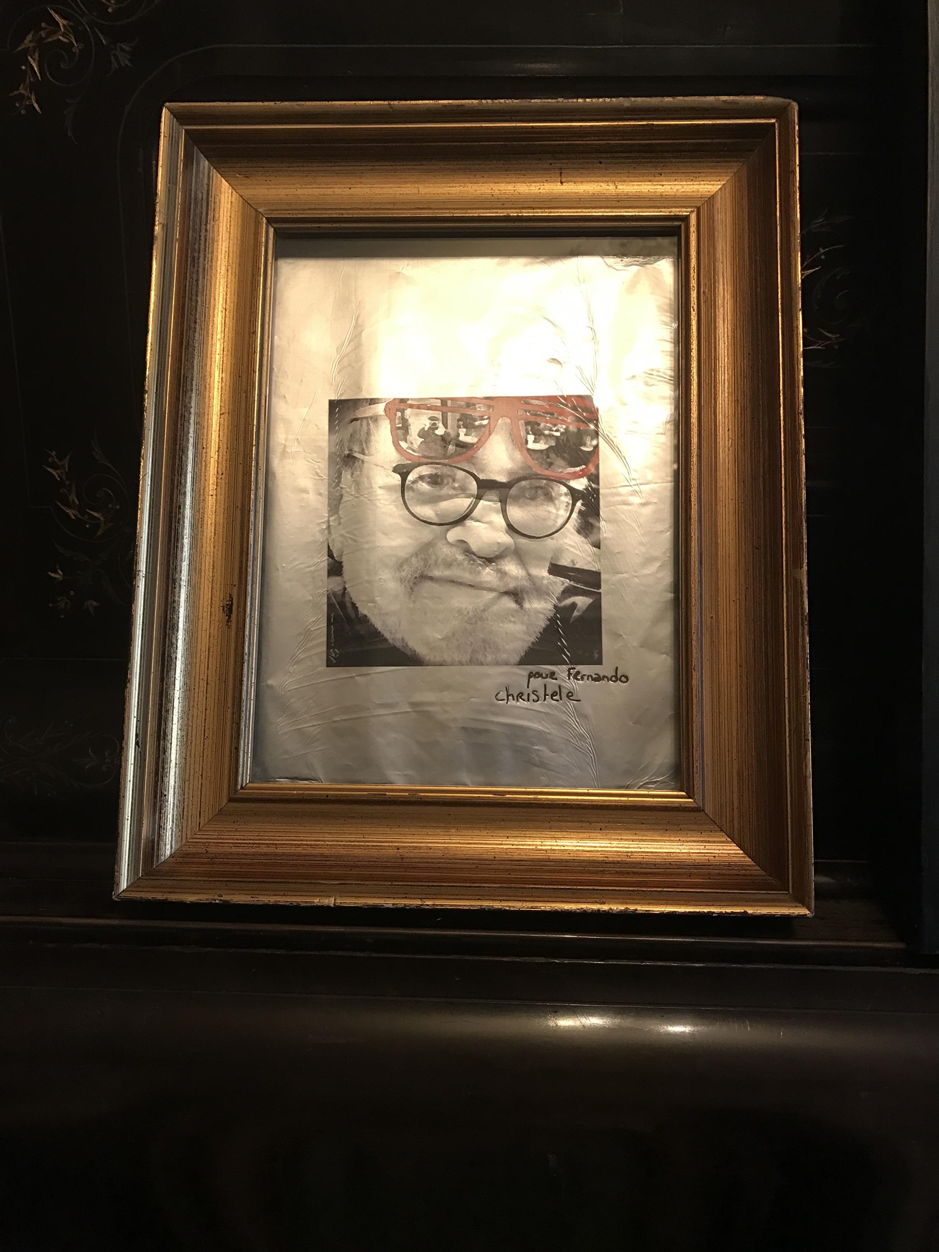 Portrait de Fernando Arrabal par Christèle, le 19 décembre 2017.
