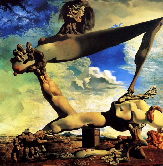 Construction molle avec Haricots bouillis : Prémonition de la guerre civile, 1936, Dalí,