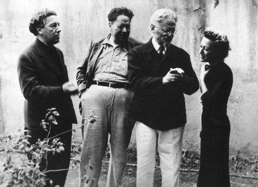 Breton, Riveira, Trostky y Jacqueline Lamba en Mexico, 1938.