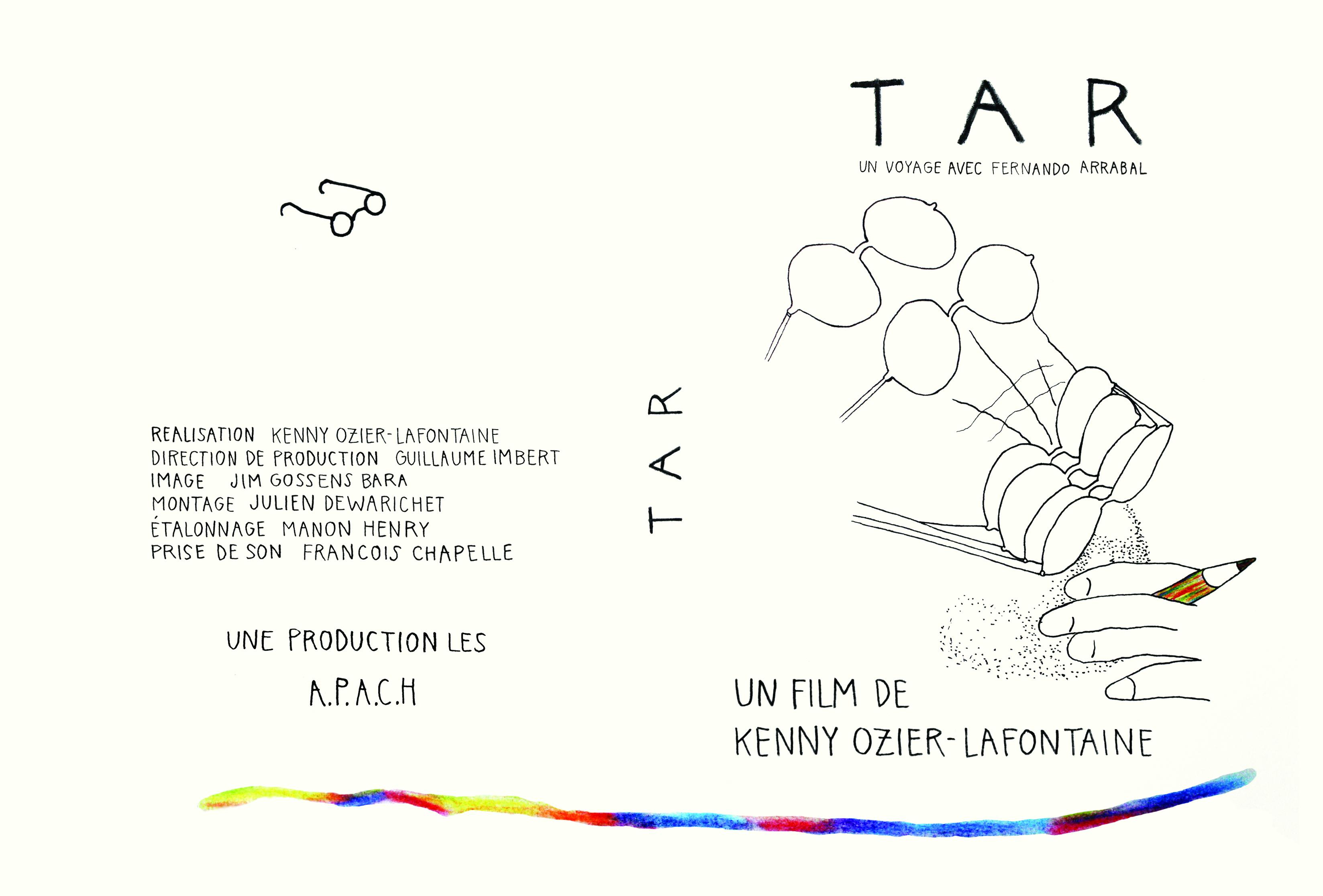 Jackette de diffusion pour le film TAR, réalisé par Kenny Ozier-Lafontaine.