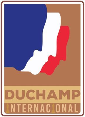 """Affiche de la seconde coupe internationale d'échec """"Marcel Duchamp"""" qui se tiendra du 2 au 8 Février à Montevideo, Uruguay."""