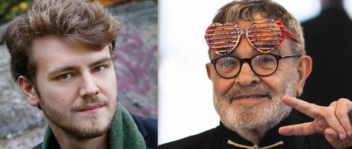 De gauche à droite, le metteur en scène Aleksi Barrière et le dramaturge Fernando Arrabal.