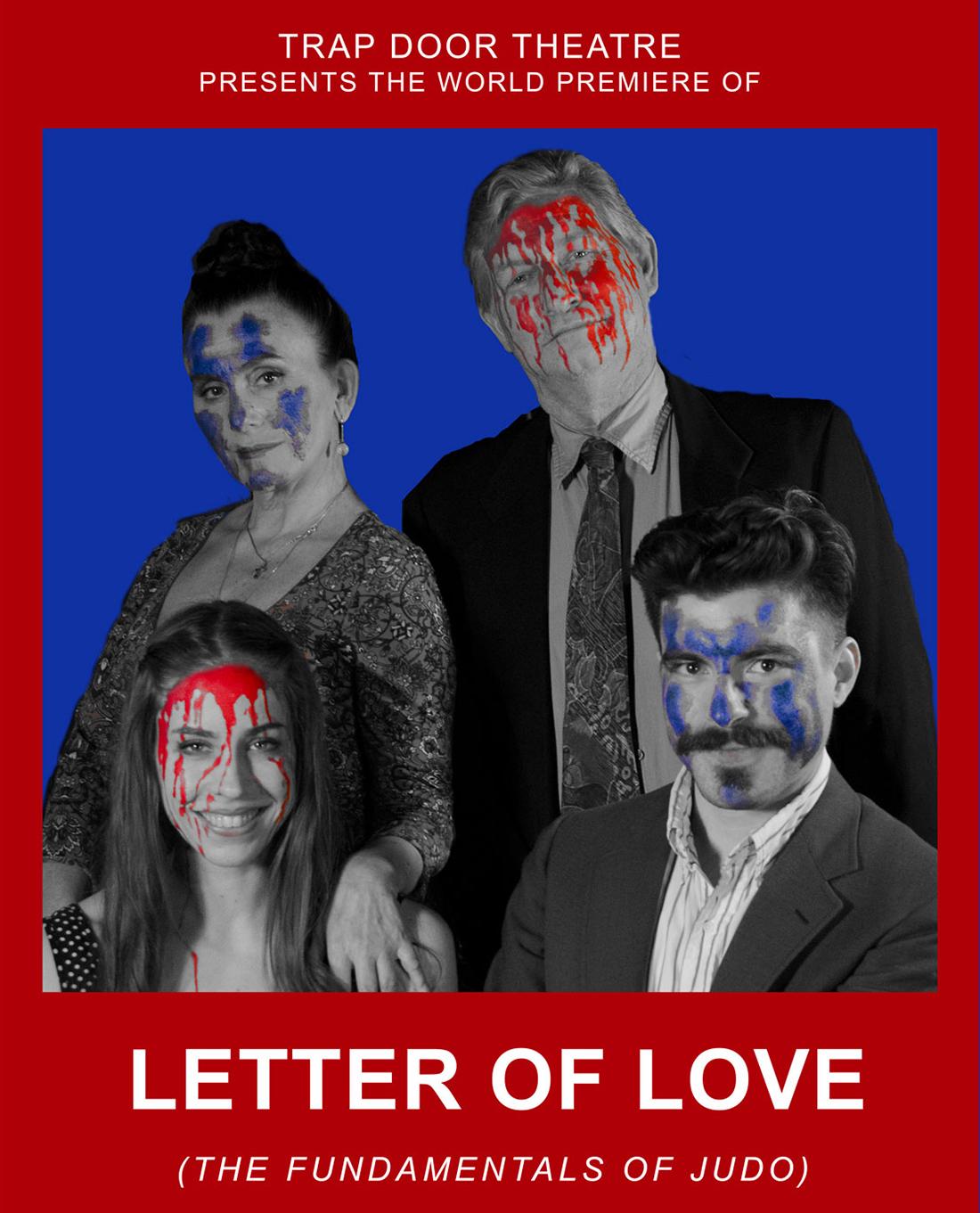 """Affiche pour les représentations de la pièce """"Letter of love, the fundamentals of judo"""", de Fernando Arrabal."""