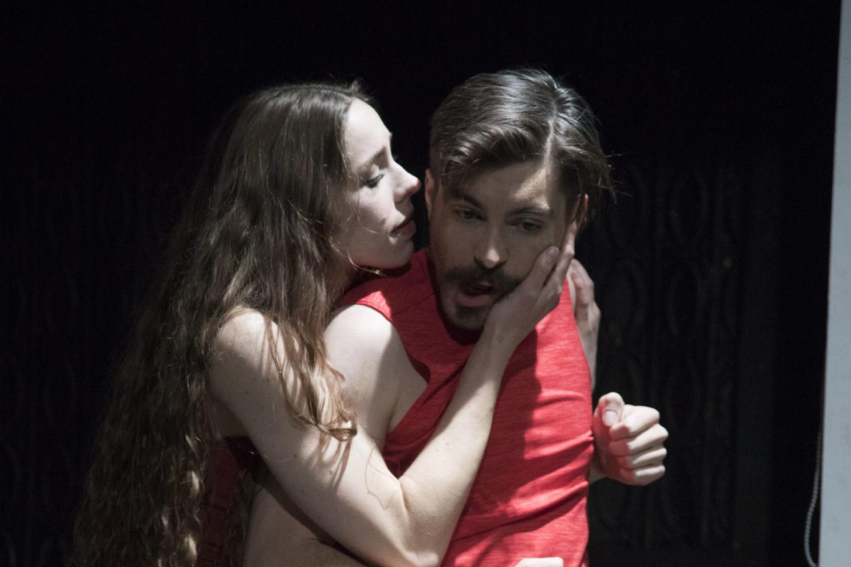 Représentation de la pièce «Letter of love, the fundamentals of judo» au Trap Door Theatre de Chicago.