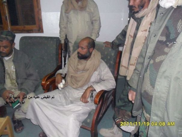 Photo provenant du february 17 website et diffusee le 19 novembre 2011 de Saïf al-Islam, fils de Kadhafi