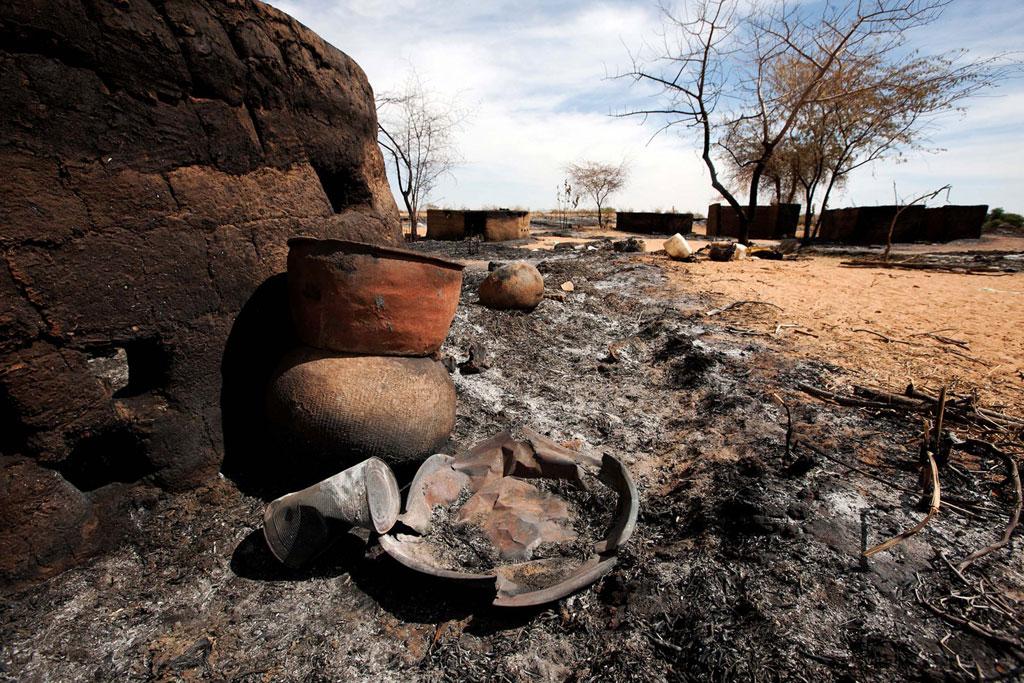 Le village de Sigili, dans le Nord Darfour, récemment attaqué.