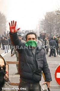 Guerre dans les rues de tehran