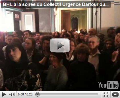 BHL a la soiree du collectif urgence darfour