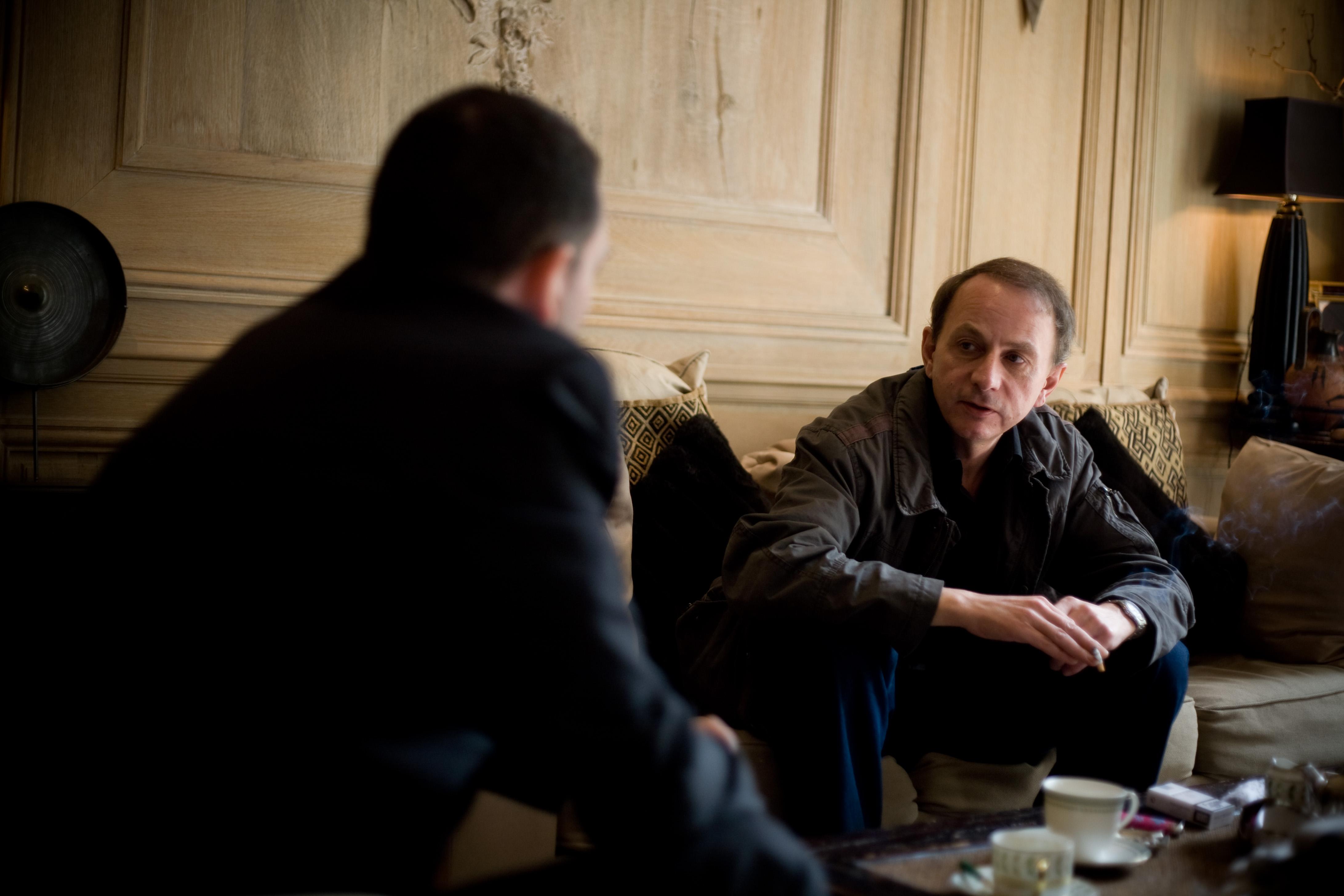 Yann Moix et Michel Houellebecq