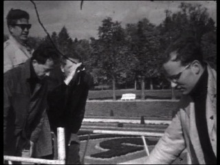 Volker Schlöndorff lors du tournage de L'Année dernière à Marienbad