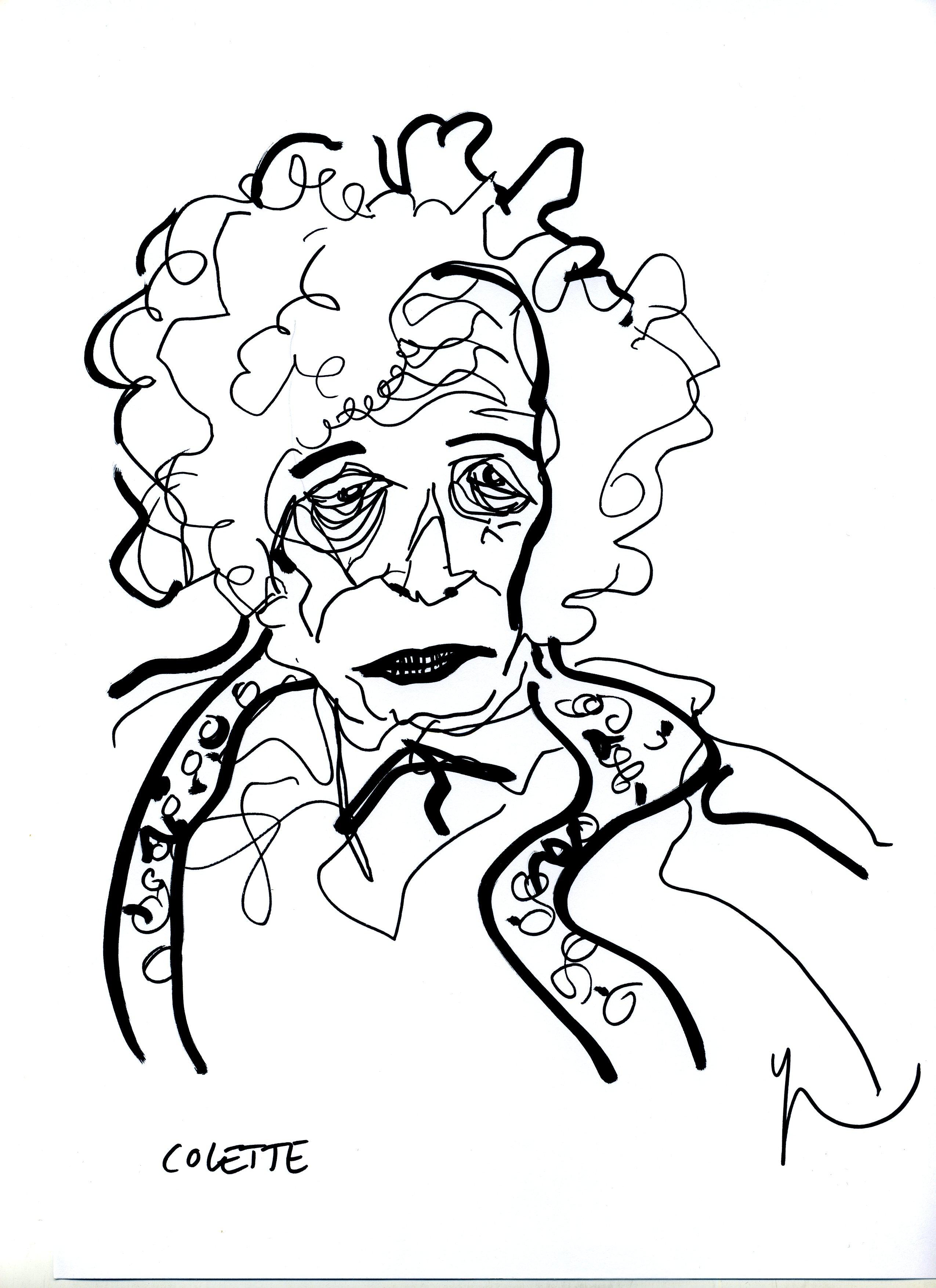 Portrait de Colette dessiné par Yann Moix