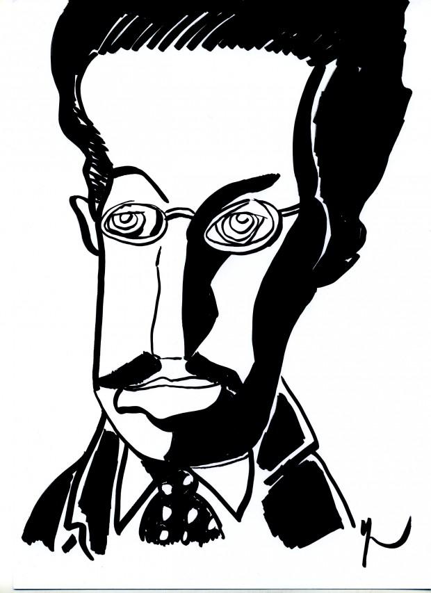 Portrait de Franz Rosenzweig dessiné par Yann Moix