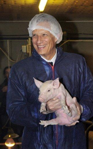 Galouzeau et son porc d'attache