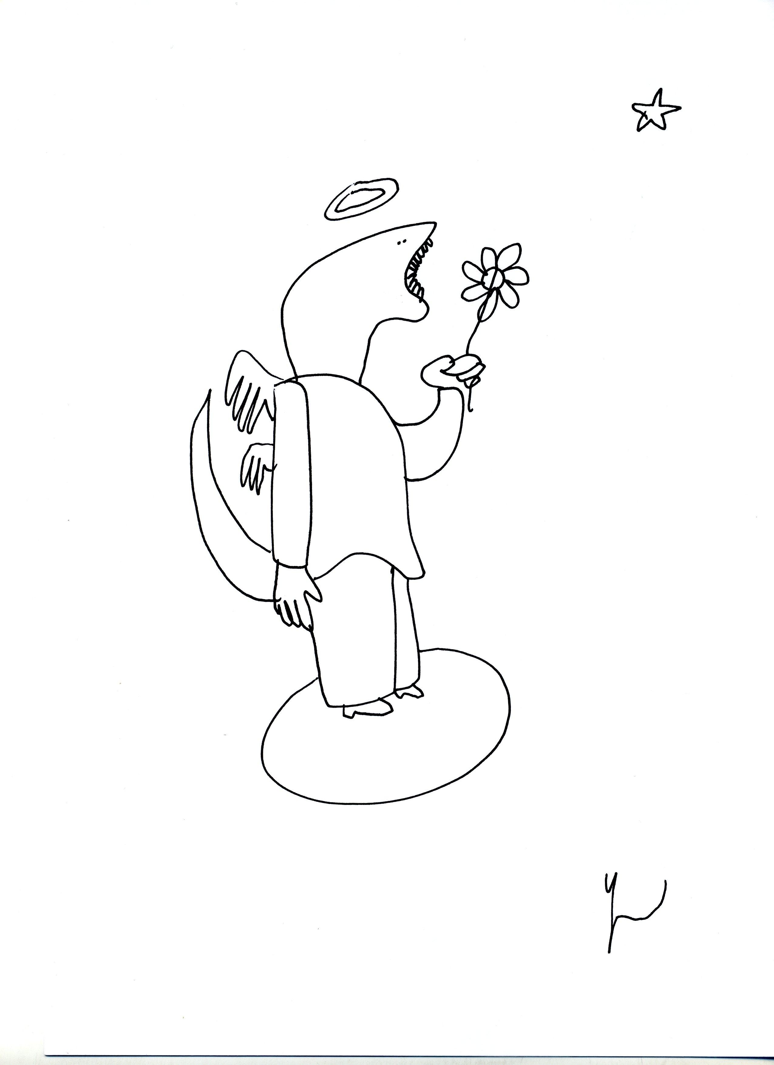 Portrait d'Espoir dessiné par Yann Moix