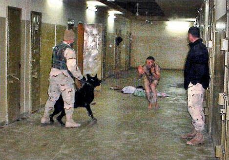 A la prison d'Abu Grahib