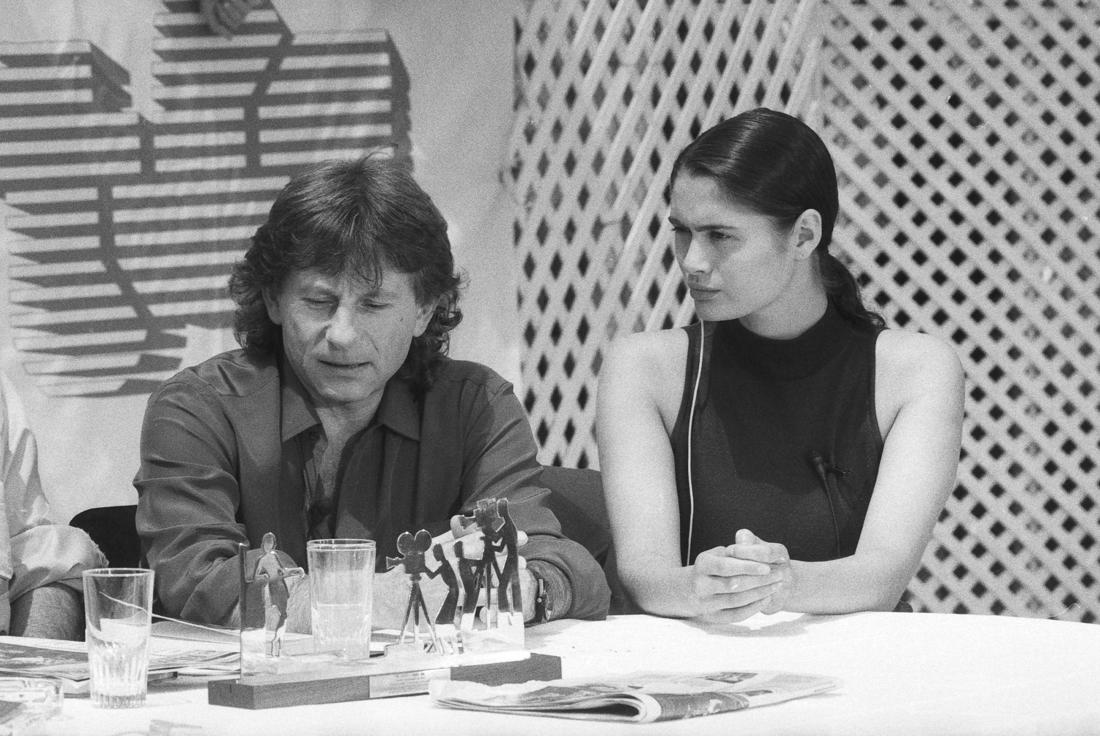 Photo of Roman Polanski & his friend  Charlotte Lewis