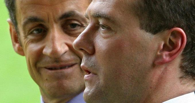 Nicolas Sarkozy et Dmitri Medvedev