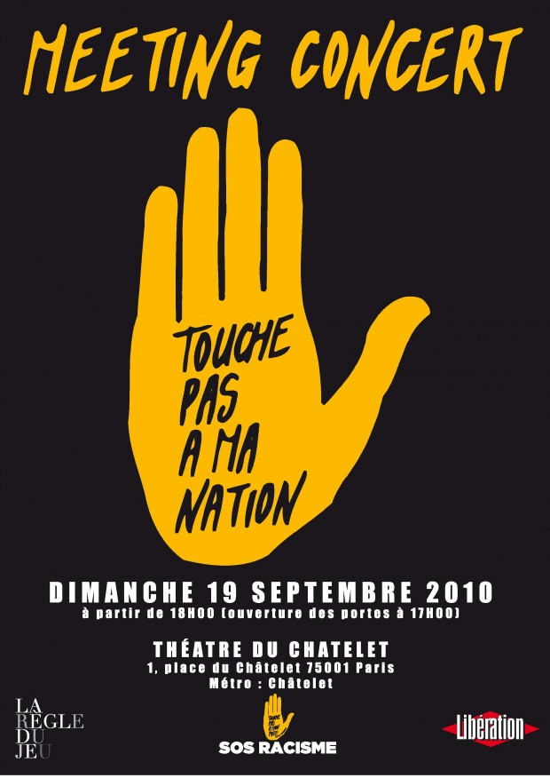 TOUCHE PAS A MA NATION -affiche