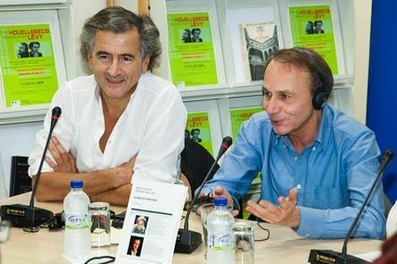 Bernard-Henri Lévy et Michel Houellebecq à Athenes