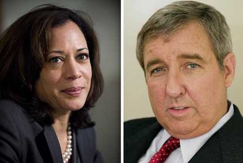 Kamala Harris et Steeve Cooley