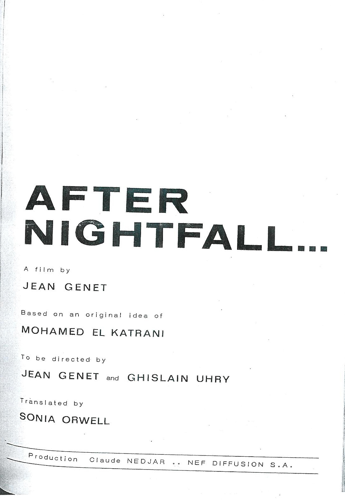 After Nightfall