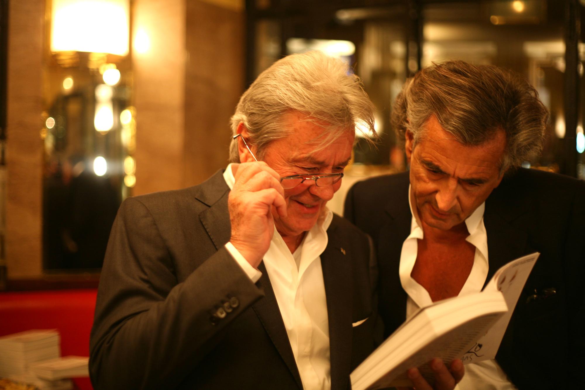 Alain-Delon-Bernard-Henri-Lévy