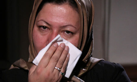 Sakineh Mohammadi Ashtian lors de l'émission iran Today de la chaine iranienne, Presse TV.