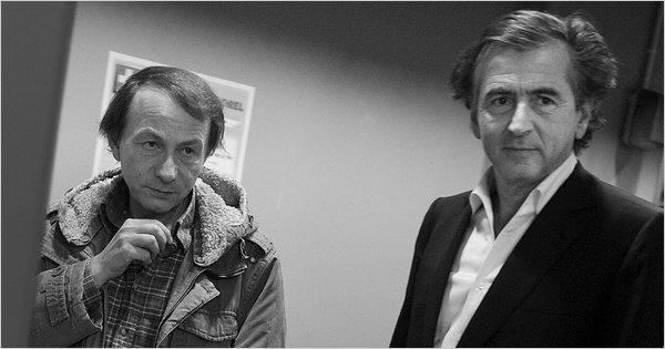 Michel Houellebecq et Bernard-Henri Lévy