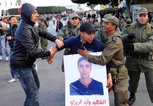 Affrontements le 24 janvier à Tunis