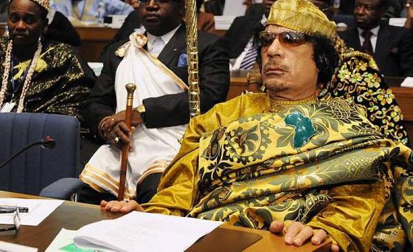 Le colonel Kadhafi