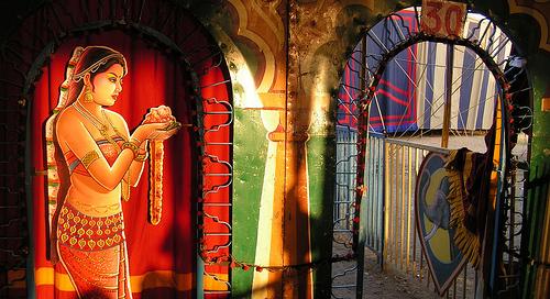 Décor de cirque à Udaipur