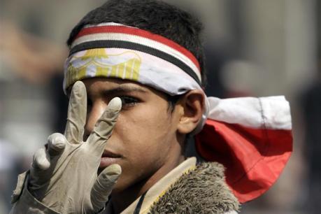 Le 12 février, au Caire. (REUTERS)