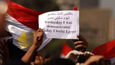 Yesterday I was demonstrator, today I build Egypt