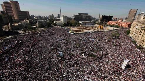 La place Tahrir en fête