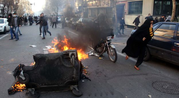 Manifestation à Téhéran, le 14 février 2011