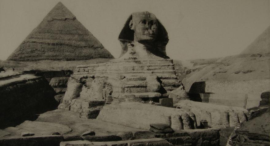 Le Sphinx de Gizeh, Égypte.
