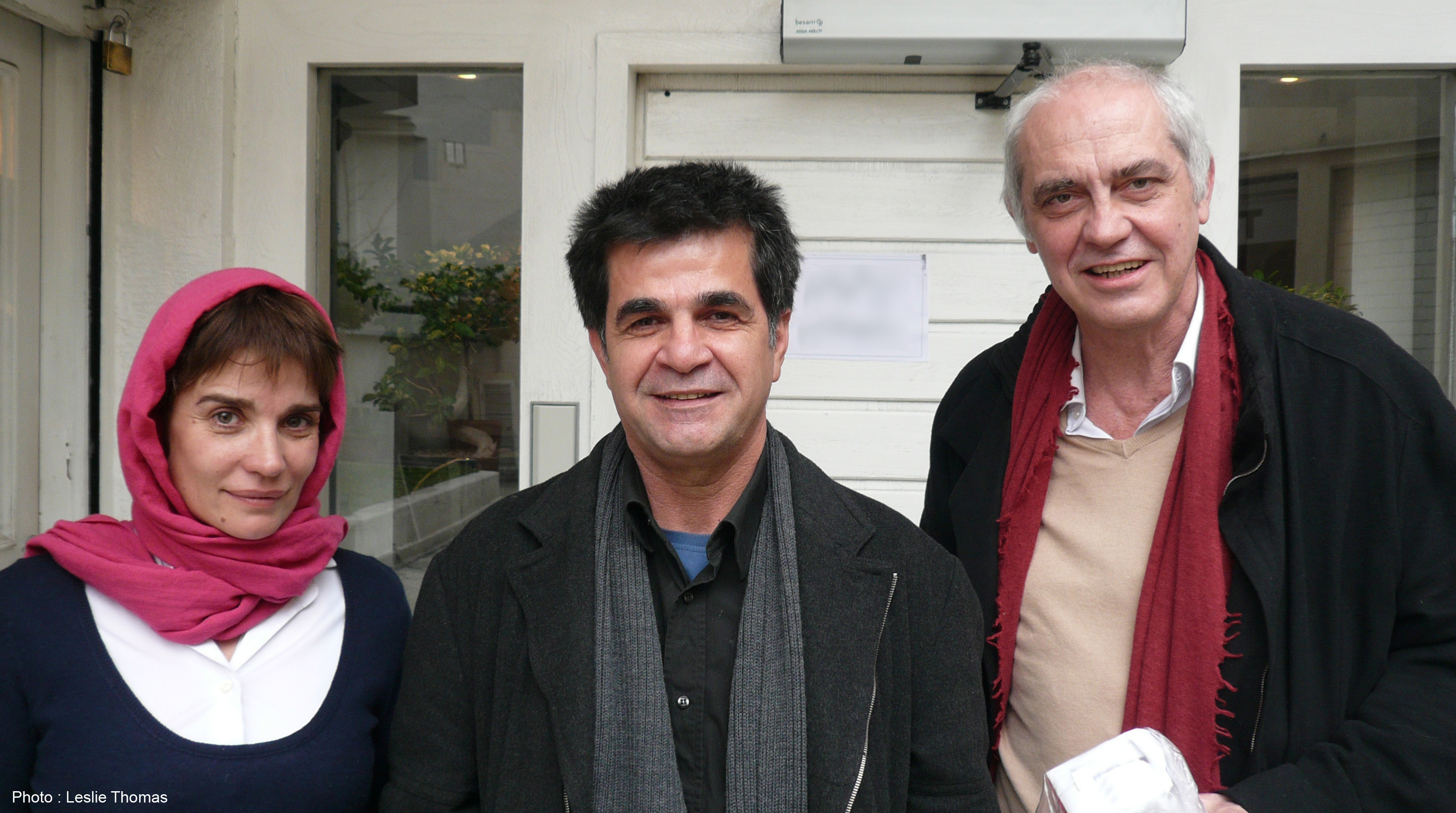 Christine Citti, Jafar Panahi et Jean-Louis Martinelli. © Leslie Thomas