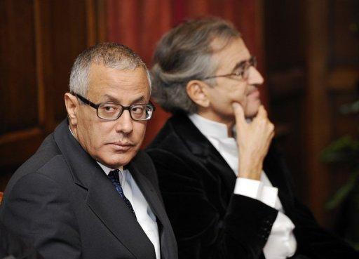 Ali Zeidan et Bernard-Henri Lévy