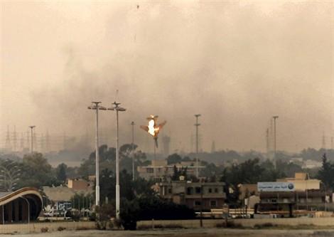 L'avion de chasse des insurgés abattu le 19 mars par les pro-Kadhafi