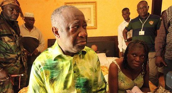 Le Président sortant Laurent Gbagbo lors de son arrestation ce lundi 11 avril