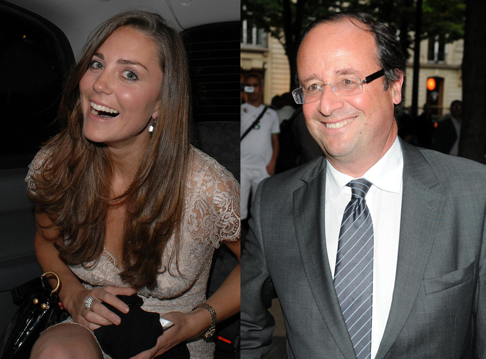 Kate Middleton et Francois Hollande