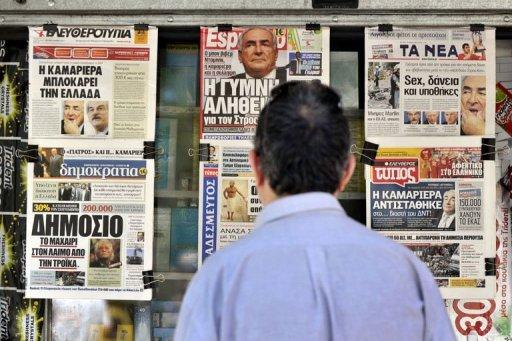 """Le quodien italien La Repubblica parle """"d'immense vide au sommet du FMI, justement dans un moment crucial pour le sauvetage de la Grèce et la stabilité de la zone euro""""."""