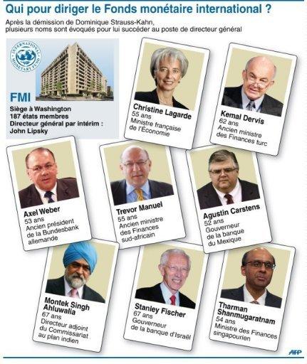 Présentation de sept candidats potentiels à la succession de DSK démissionnaire