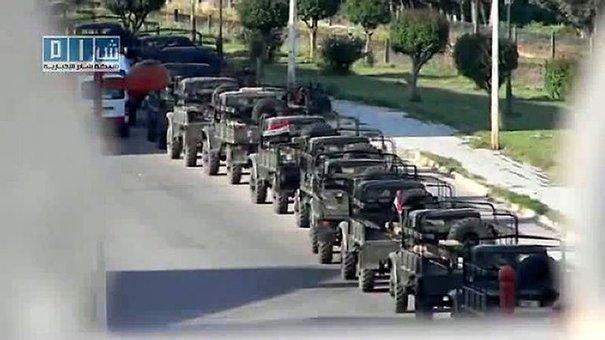 afp.com. Capture d'écran réalisée le 11 mai 2011 par Sham SNN, une chaîne d'oposition syrienne, montrant des chars à Homs.